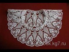 Ажурный воротничок крючком. Вариант 3.Crochet collar - YouTube