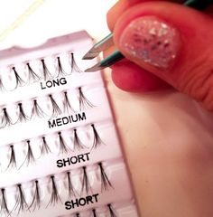diy eyelash extensions... good to know for a special occasion!