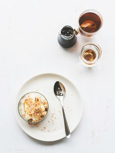 Food Photography From Above / Coconut Quinoa Porridge with Palm Sugar