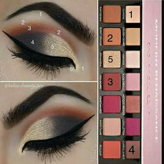Trendy makeup palette for brown eyes pallets Makeup Goals, Love Makeup, Diy Makeup, Makeup Ideas, Makeup Tutorials, Simple Makeup, Make Up Palette, Abh Palette, Beauty Make-up