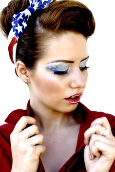 Digging the shadow. #stars and #stripes #makeup