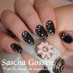 Simple but nice...CND Shellac Black Pool with dots....
