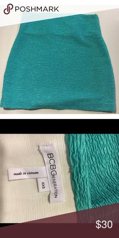 BCBGeneration Teal Skirt Gorgeous teal BCBGeneration skirt with elastic waist. Great condition, never worn. BCBGeneration Skirts Mini