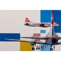 Design is fine. History is mine. — Kurt Wirth, artwork for Swissair, 1955-61. Via...
