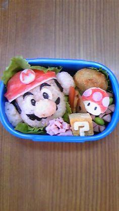 """Super Mario Bros."" - japanese recipe/キャラ弁☆マリオ"