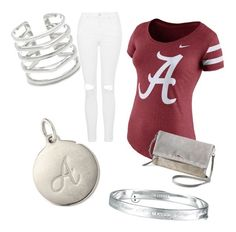 """""""Alabama"""" by tiffany-volkerding on Polyvore featuring NIKE, Stella & Dot and Topshop"""