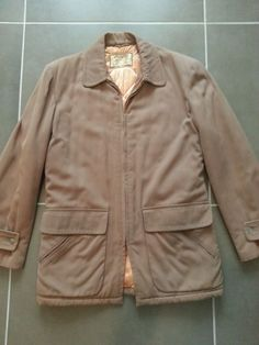 VTG 1950's 40's McGREGOR Gabardine Car Coat Jacket Hollywood Rockabilly 38