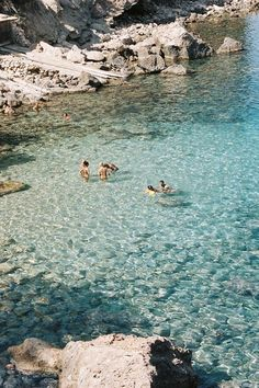 Swimming in clear, pale turquoise waters - off Cala Xarraca beach, Ibiza | Balearic Islands, Spain Credit: Laura Uslar