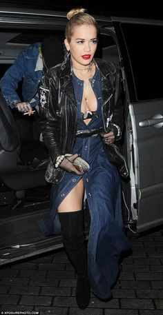 Rita Ora wearing Maria Francesca Pepe New York Plexi Drop Earrings.