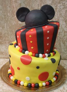 mickey mouse cake by The House of Cakes Dubai, via Flickr