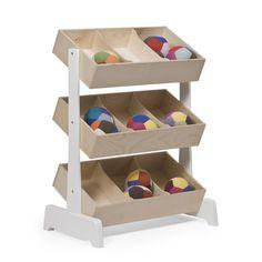 Toy Storage Shelf With Bins