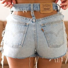 Holy Cutouts Vintage Levis High Waist Shorts · Knee Deep Denim ...