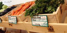 "Interior design by Giovanni Tomasini - Studio7B / Health Food Store ""Armònia"" - Brescia (ITALY) - 2014. #pallet #design #eco #wood #natural #interior #design #architecture #pallets #wall #oldwood #newlife #recycled #health #store #cafè #bio #locale #negozio #furniture #arredo #madeinitaly #style #Studio7B #biologico #greendesign #shelf #desk #table #fruits #verdures #fruiterer #greengrocer #case"