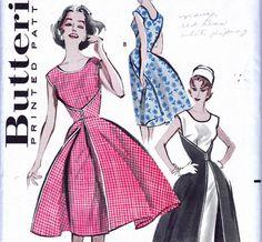 1950s Vintage Walk Away Dress pattern by allthepreciousthings