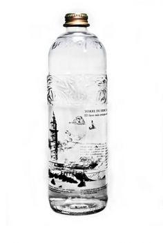 Agua Mineral Natural Mondariz Torre de Hércules | Aguas de Mondariz. isn't this interesting water #packaging PD