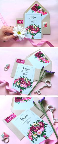 This beautiful bridesmaids proposal card with a bouquet image is perfect to propose to your bridesmaids.