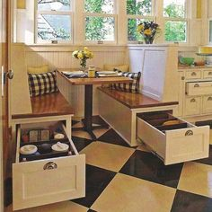 Small country kitchen with great use of limited space