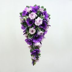 A Shower Bouquet of Purple and Lilac