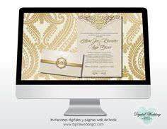 Invitaciones digitales online con registro de confirmación en línea y páginas web de boda Tel.: (506) 2238-2860 / (506) 8874-8614 For english contact (506) 7111-6393 E-mail: info@digitalweddingcr.com