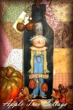 hand painted bread board