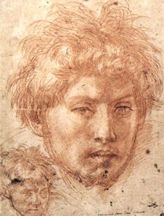"""""""Head of a Young Man"""" -- 1520 -- Andrea del Sarto -- Italian -- The Louvre -- Paris, France Trois Crayons, Italian Renaissance, Renaissance Art, Michelangelo, Italian Painters, Art Database, Old Master, Moleskine, Painting & Drawing"""