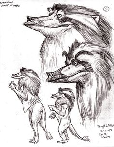 Terryl Whitlatch -- concept art for The Alien Chronicles trilogy. Creature Feature, Creature Design, Alien Concept, Concept Art, Terryl Whitlatch, Alien Races, Fantasy Races, Cryptozoology, Animal Sketches