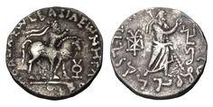 INDO-SKYTHIANS. Azes II. 35-12 BC. AR Tetradrachm - Greek Coins - Coins