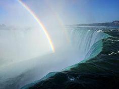 Rainbows Over Niagara Falls [OC] [3264 x 2448]