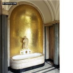 Virginia Coultauld's 'onyx bathroom' at Eltham Palace via countrylife