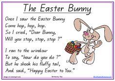 The Easter Bunny Poem - Printable Short Easter Poem for Children