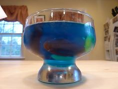 jello with fish candy inside