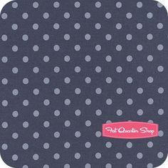 think dress fabric....Snowbird Prints Cold Blue Polka Dot Yardage <br/>SKU# 42172-21