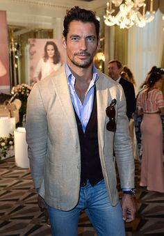 David Gandy attends the Aspinal of London presentation during London Fashion…