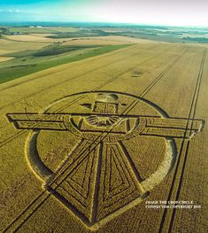 Crop Circle at Uffcott Down, nr Barbury Castle, Wiltshire. Reported 25th July…