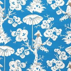 Meg Braff had added some new and bolder colorways to her Up a Tree wallpaper.