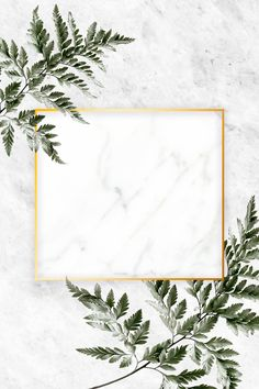 Square golden frame on a marble background | premium image by rawpixel.com / Adj / HwangMangjoo