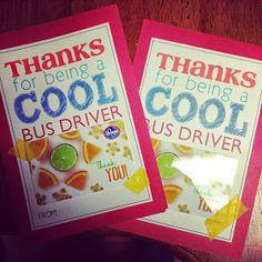 End of the year gifts for teachers is all the rage, but I like to do a lil' something for our drivers. Afterall, they are carrying around .