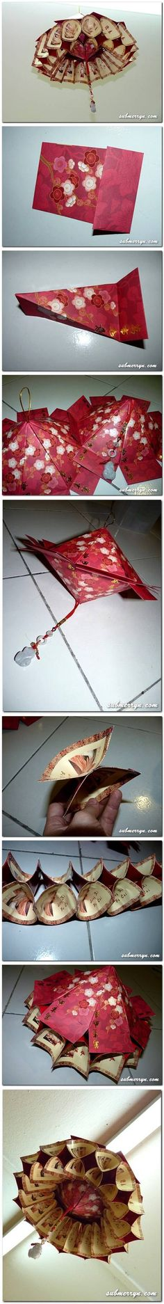 DIY Chinese Lantern DIY Chinese Lantern by diyforever Lanterns Decor, Paper Lanterns, New Year's Crafts, Fun Crafts, Origami Lights, Origami Lantern, Chinese New Year Decorations, Book Decorations, Decoupage