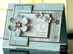 Pickled Paper Designs: Friendship Blooms over Afternoon Tea - Kaarten Maken Friendship Cards, Pretty Cards, Card Sketches, Paper Cards, Creative Cards, Cool Cards, Flower Cards, Greeting Cards Handmade, Scrapbook Cards