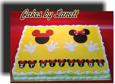 Mickey & Minnie Birthday Sheet Cake - Cake by lanett