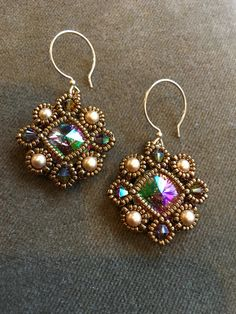"""This lovely pattern is by Sabine Lippert of """"Try to Bead"""". Fun to make!"""