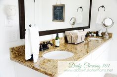"""Daily Cleaning 101 - Tips on how to keep your bathroom clean """"all the time""""."""