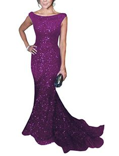 Solovedress Women's Mermaid Sequined Formal Evening Dress...