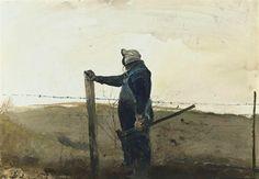 Andrew Wyeth  MENDING FENCES
