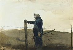 Andrew Wyeth, MENDING FENCES