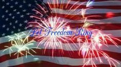 I made this in honor of America's Birthday, and to celebrate the beautiful. patriotic, inspiring and uplifting song Let Freedom Ring written by Barry Manilow, Bruce Sussman and Jack Feldman!