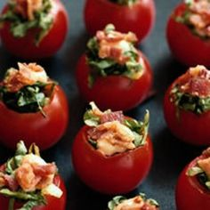 BLT Stuffed Tomatoes : My cousin's girlfriend made these for our family reunion. They were quite delicious.