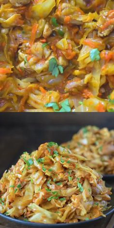 CABBAGE WITH CHICKEN . this succulent Cabbage with Chicken is hearty, filling and so delicious! Just a few ingredients and about 15 minutes of active cooking time make up this amazing dinner which will be your next best recipe! Healthy Recipes, Low Carb Recipes, Cooking Recipes, Cooking Time, Cooking Classes, Shredded Chicken Recipes, Pancake Recipes, Ketogenic Recipes, Steak Recipes