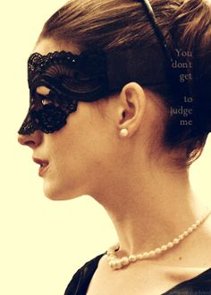 "Anne Hathaway's character wears a stunning mask in the movie ""The Dark Knight Rises""......"