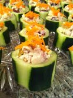 Cucumber Cups with Chicken Salad